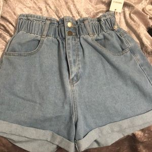 Jean high waisted shorts